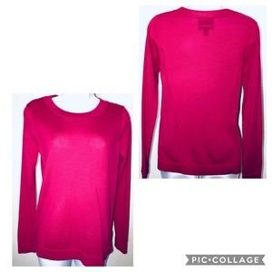 NWOT! CYNTHIA ROWLEY 💯WOOL BRIGHT PINK SWEATER